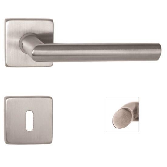 ELYPSE rozsdamentes acél ajtókilincs négyzetrozettával