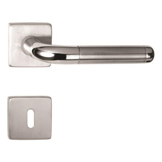 GIULIA rozsdamentes acél ajtókilincs négyzetrozettával