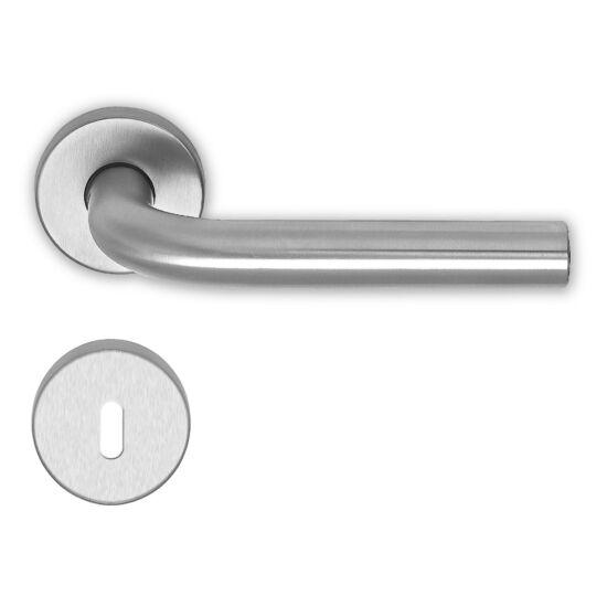 IMAGE rozsdamentes acél ajtókilincs körrozettával