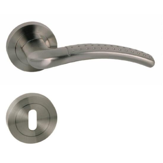 PALLAS szatén nikkel ajtókilincs körrozettával