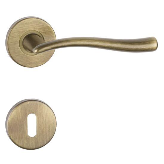 POLARIS súrolt bronz körrozettás ajtókilincs