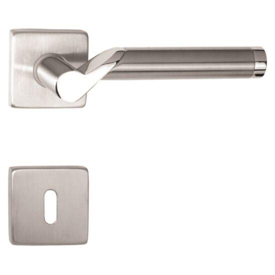 VIVA króm-rozsdamentes acél ajtókilincs négyzetrozettával
