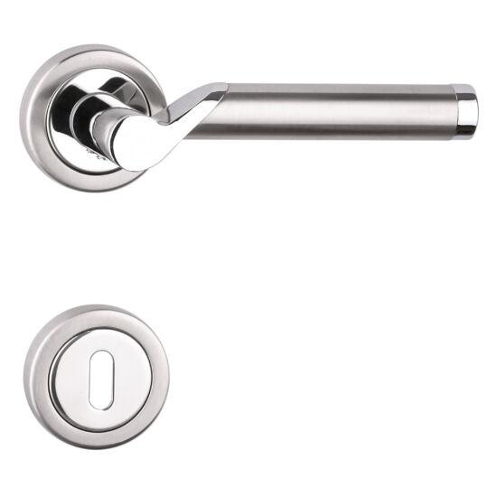 VIVA króm-rozsdamentes acél ajtókilincs körrozettával