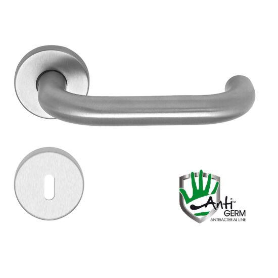 Rondo AntiGERM antibaktriális rozsdamentes acél ajtókilincs körrozettával