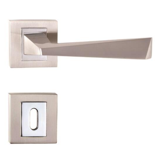 CAIRO ECO króm-sztén nikkel ajtókilincs négyzetrozettával