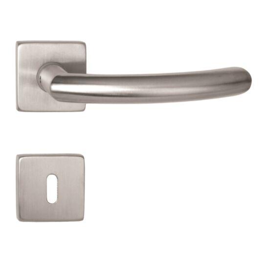 GINO rozsdamentes acél ajtókilincs négyzetrozettával