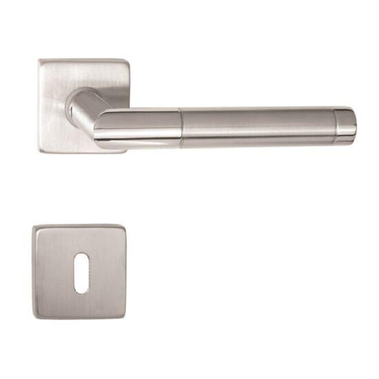 PANAMA rozsdamentes acél ajtókilincs négyzetrozettával